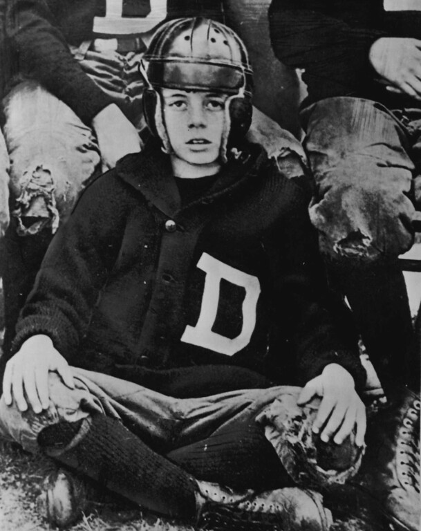 . Kennedy wears his football uniform when he was at Dexter School, a private elementary school in Brookline, Mass., in 1927. Denver Post file