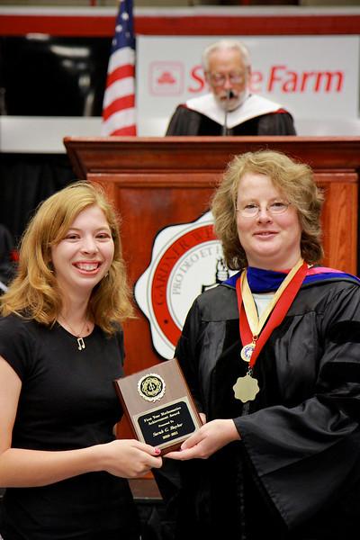 56th Annual Academic Awards Day Ceremony. First Year Mathematics Achievement Award: Sarah Grace Baylor