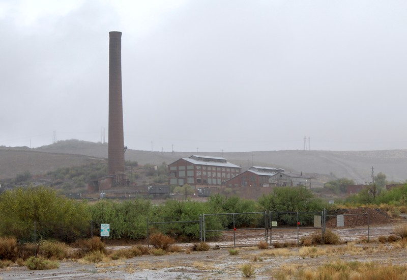 Fog surrounds the historic Magma Smelter (2018)