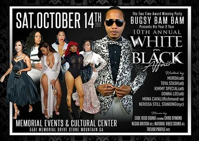 BUGSY BAM BAM'S WHITE ON BLACK AFFAIR 2017