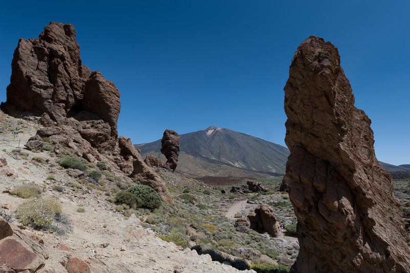 Roques de Garcia or rock formation in Mount Teide, Canary Islands, Spain