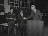 Mayor Hudnut at IPD Quarterly Awards, September 15, 1983, Img. 12, with Joseph McAtee