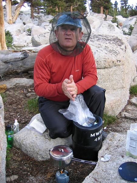 Making dinner in the fishnet :)