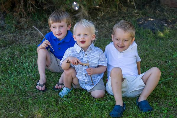 Ethan, Grayson, and Gavin