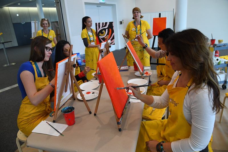 A painting party in the Imagination Zone at EduMonday
