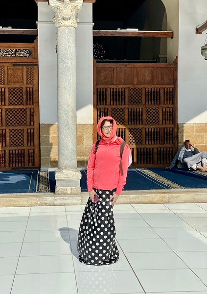 Even though I came clad in long pants and my headscarf, this particular mosque has a stricter dress code than most.
