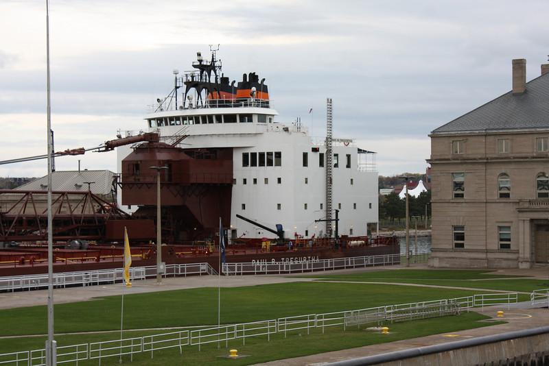 Back of ship in lock