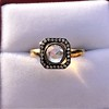 .53ctw Rose Cut Halo Ring, by Single Stone 16
