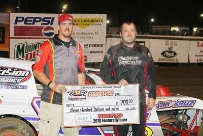 8/25 34 Raceway- Feature Winners
