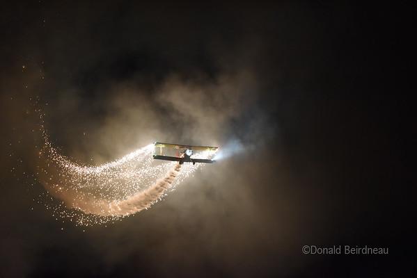 Nighttime Airshow Oshkosh 2014