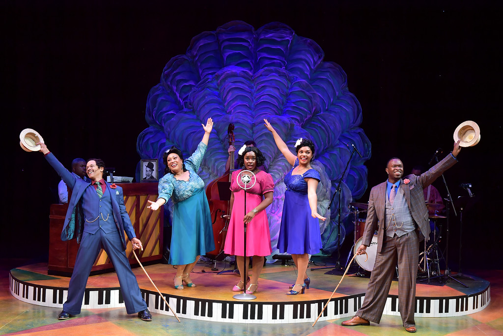 ". Jim Weaver, left, Tina D. Stump, Aveena Sawyer, Channy Lewis, and Eugene Sumlin perform in the Porthouse Theatre production of ""Ain\'t Misbehavin\'.\"" The show is on stage through July 22. For more information, visit kent.edu/porthouse. (Bob Christy)"