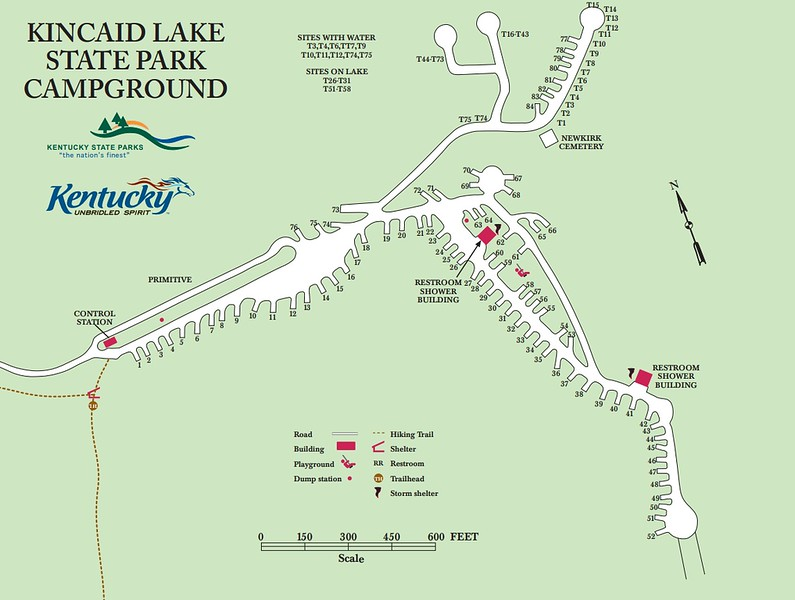 Kincaid Lake State Park (Campground Map)