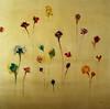 "Flowers B-Hibberd, 30""x30"" painting on unframed paper"