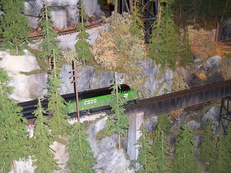 The running train display.