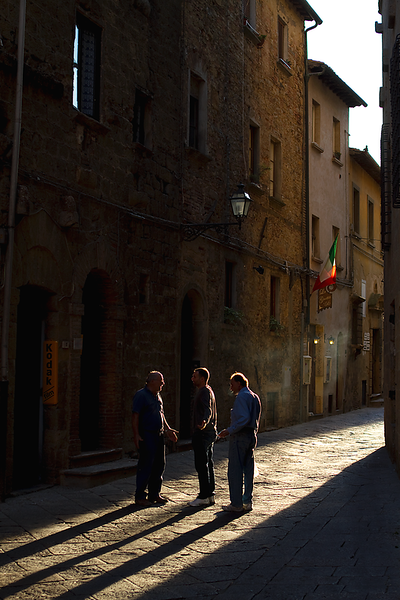 """Shadows of Conversation"", Volterra, Tuscany"