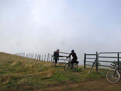 A foggy ride up Mt. Hamilton