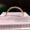 Rose Gold Micropave Diamond Band, by Single Stone 14