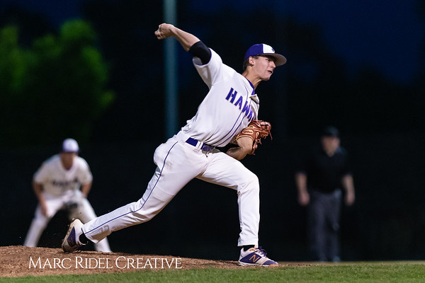 Holly Springs baseball senior Matt Wildness pitches in the Bobby Murray Invitational at Holly Springs High School. April 18, 2019. D4S_8347