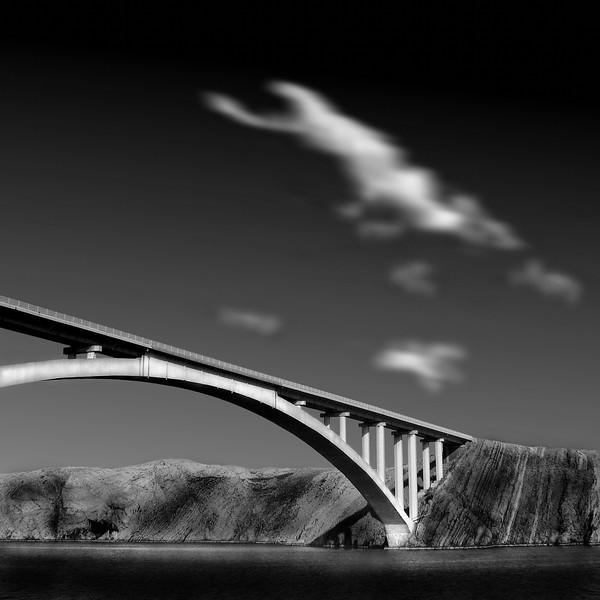 Brücke nach Pag, Kroatien