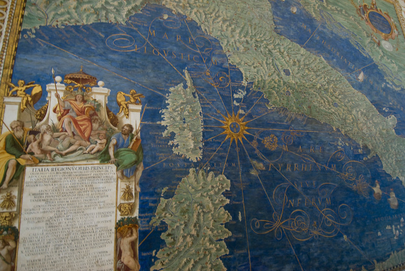 Map of Italy, Corsica and Sardinia - The Gallery of Maps - Vatican Museums.