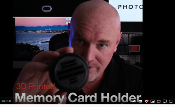 3D Printed Memory Card Holder For Photographers
