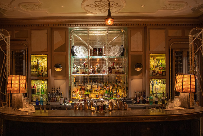 The martini bar at the Connaught Hotel.