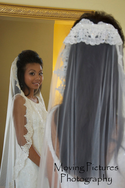Trying on the veil