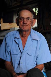 Anibel Gonçalves Garcia (Calheta de Nesquim, Pico), born 1930, pictured in his garage. August 14, 2012.