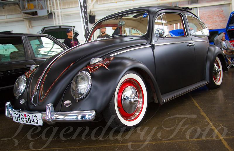Black Volkswagen Bug at WaterWerks 2014