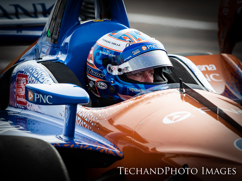 Scott Dixon with an intense focus prior to race at The Firestone Grand Prix of St Petersburg held on Sunday  March 10th