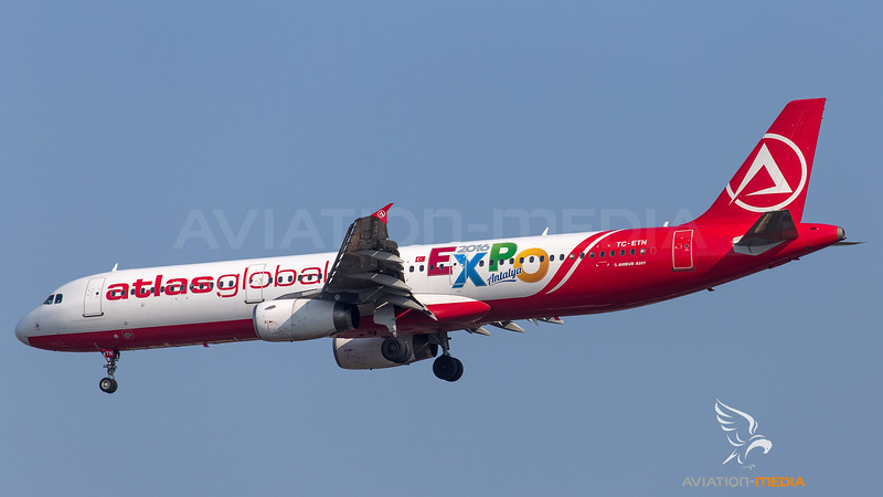 Atlas Global Airbus A321 TC-ETN - 2016 EXPO Antalya livery