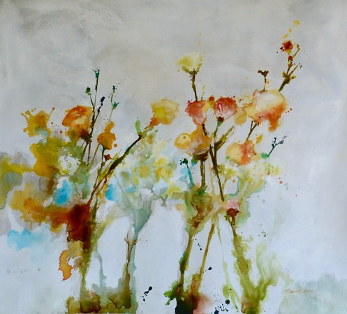"Wildflowers I-Carney, 40""x36"" painting on canvas"
