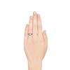 1.30ctw Old European Cut Diamond Emerald Target Ring 2