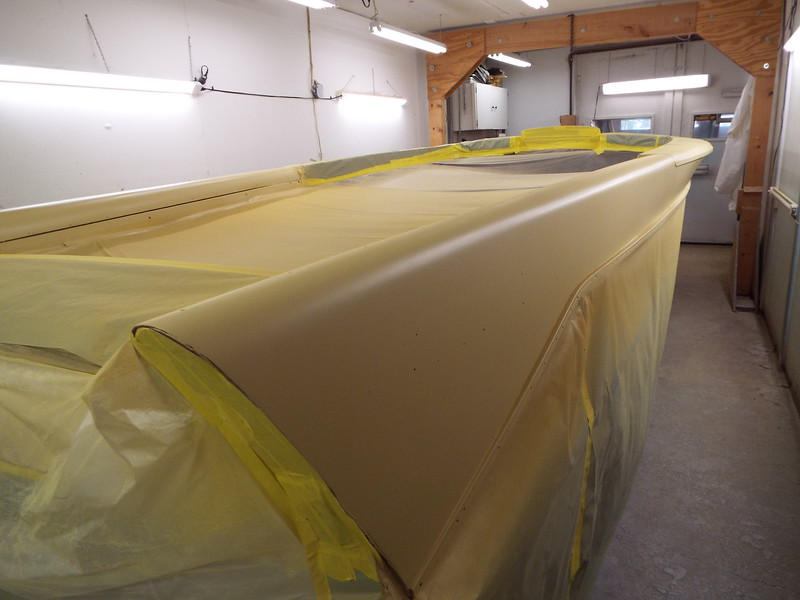 Rear starboard with primer applied.