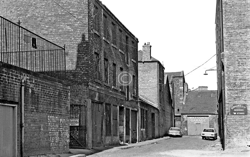 College Lane from High St.  April 1973