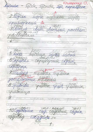 Olya's handwritings