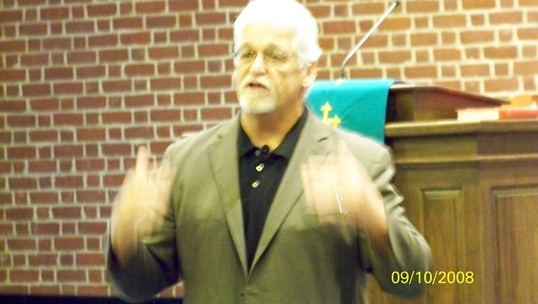 Joe Earhman speaks with the Corps of Cadets