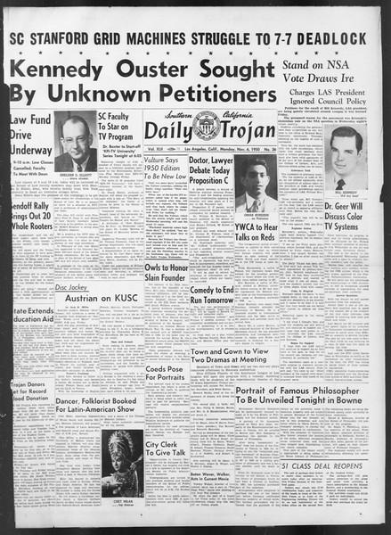 Daily Trojan, Vol. 42, No. 36, November 06, 1950
