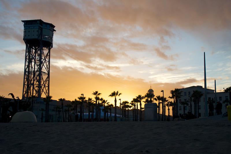 Barcelona Playa Sunset