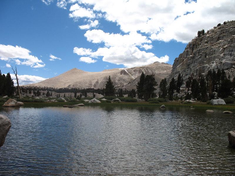 Coming around the ridge, back toward Long Lake