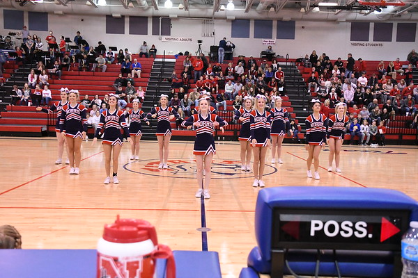 Cheerleaders - Aurora Basketball game