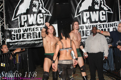 PWG 20100130 - Cutler Brothers, Ryan Taylor & Christina Von Eerie vs Johnny Goodtime, Malachi Jackson, Candice LaRae & Jerome Robinson
