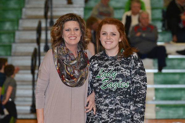 Hokes Bluff Basketball Senior Night 2016