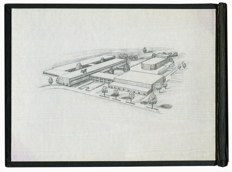 . Historic photo provided by Jim Smith <br> This drawing shows Admiral King High School, which sat at the location of a new Lorain High School, 2600 Ashland Ave., Lorain. The cost was $5 million when construction began in February of 1960, according to a timeline provided by Lorain Public Library.