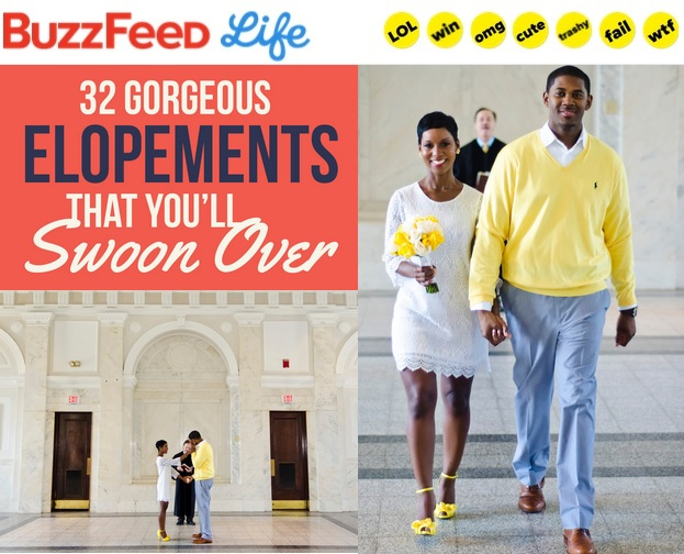 Yellow Courthouse Wedding Featured on Buzzfeed | Fotos by Fola | Atlanta Wedding Photographer
