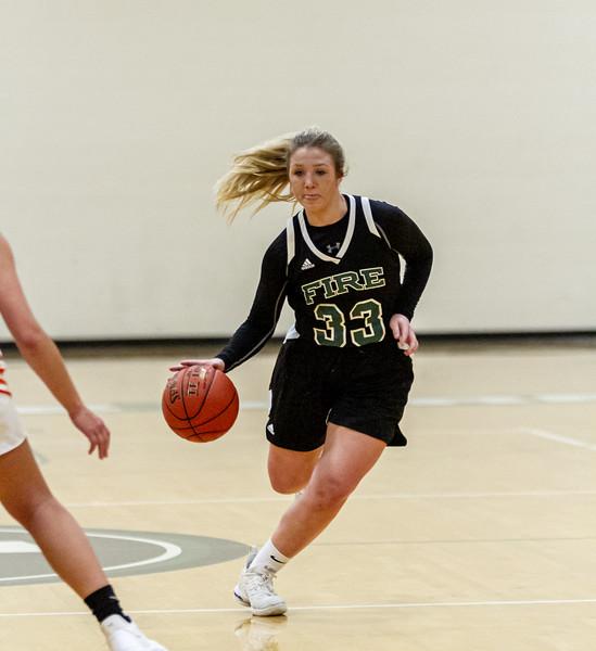 Holy Family Varsity Girls Basketball vs. Delano, 1/10/20: Lucy Hertel '22 (33)
