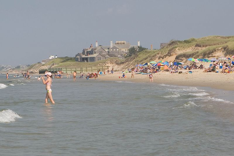 Nantucket Island Dionis Beach in the water