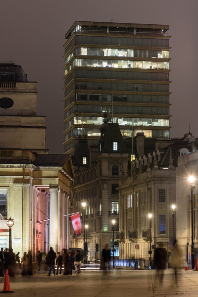 Pall Mall and Trafalgar Square in London
