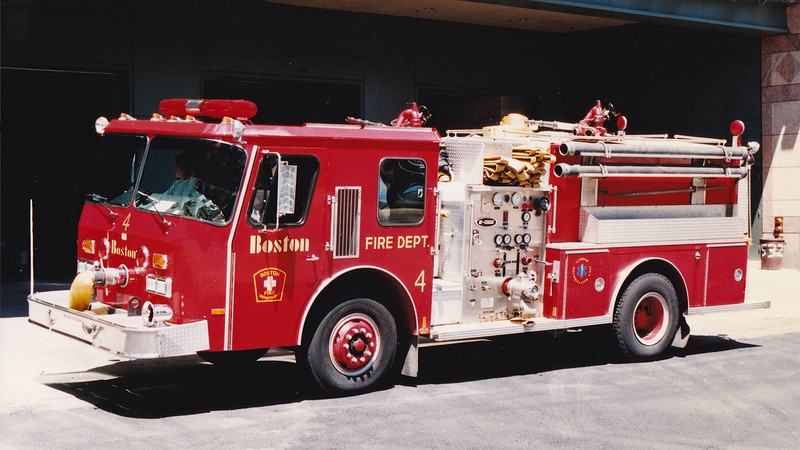 Retired Engine 4.  1987 E-One Cyclone.  1250 / 500