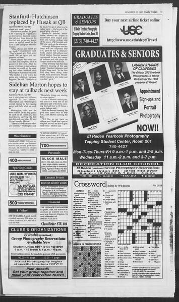 Daily Trojan, Vol. 132, No. 51, November 10, 1997